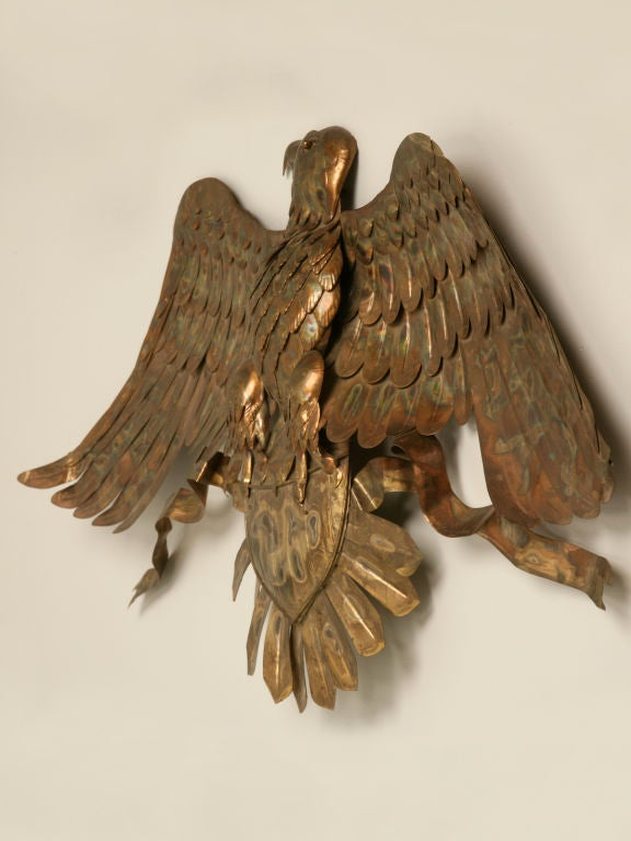 C1960 Copper American Eagle Wall Plaque At 1stdibs
