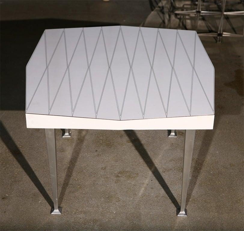 Ralph Giarreto For Hudson Rissman Laminate Top Side Table