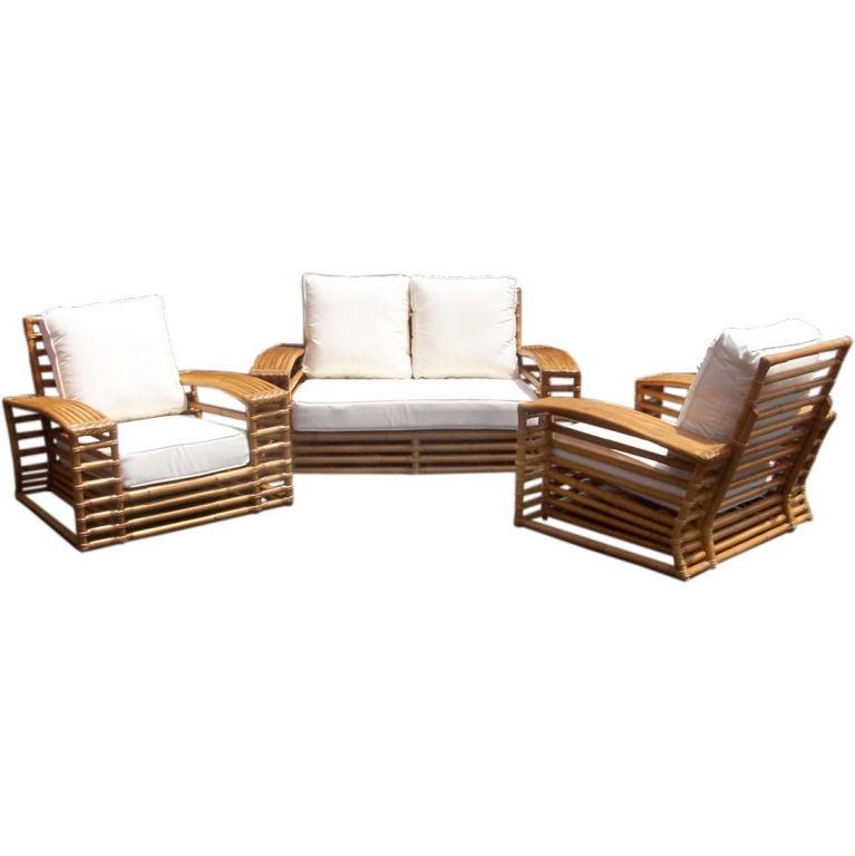 Fine And Rare Kane Kraft Rattan Living Room Suite At 1stdibs