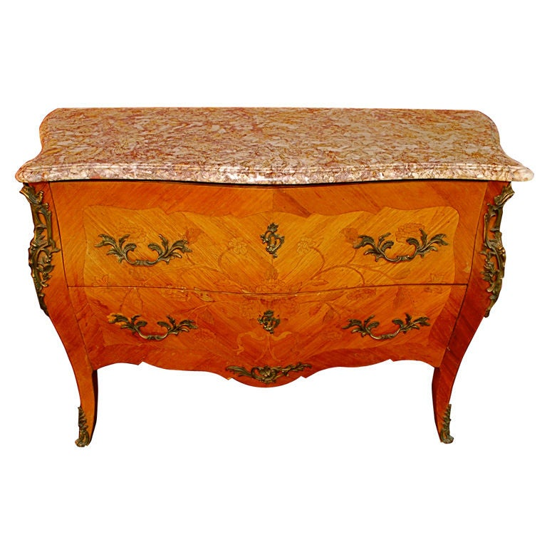 Antique French 1940 Bombe Chest At 1stdibs
