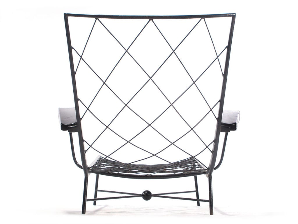 Pair Of Wrought Iron Chaises Longues At 1stdibs