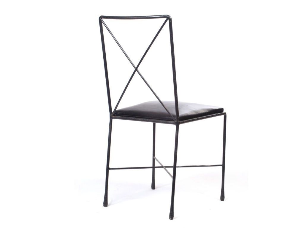 Wrought Iron X Back Dining Chairs Designed By Darrell