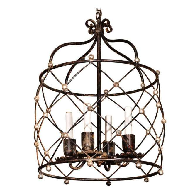 19th C French Cage Chandelier