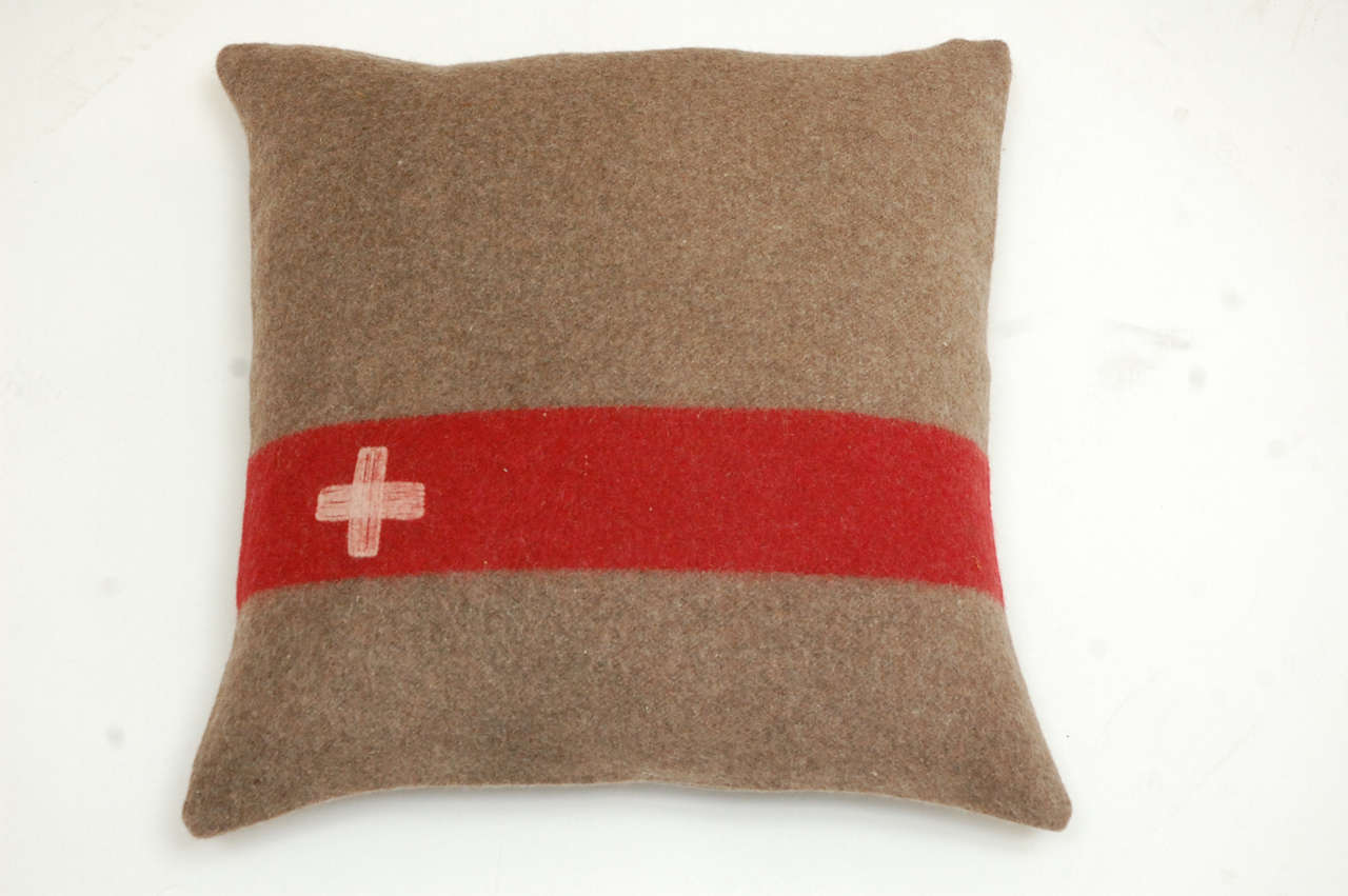 Vintage Swiss Army Blanket Pillows At 1stdibs