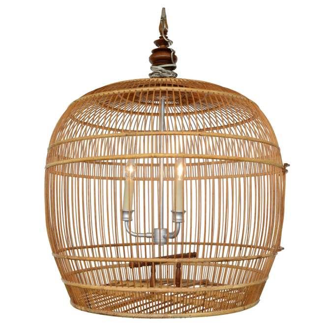 Fabulous Bird Cage Bamboo Chandelier 1