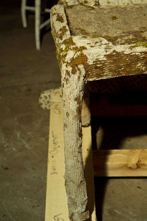 Whimsical French Faux Bois Garden Bench For Sale At 1stdibs
