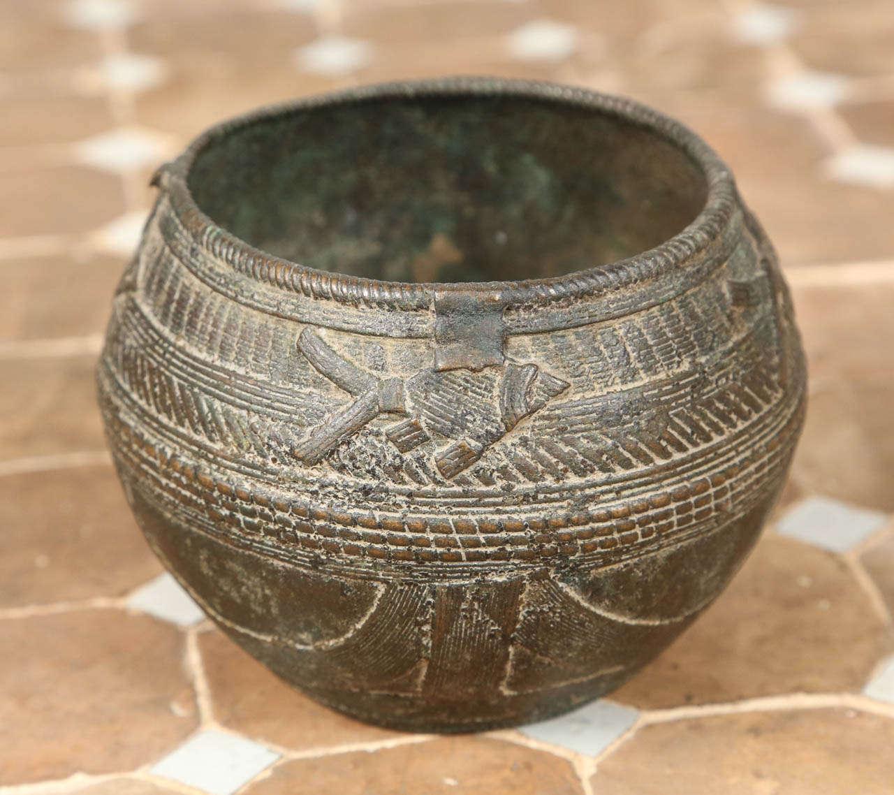 Antique Copper Flower Basket
