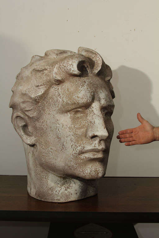 Large-Scale Male Head at 1stdibs