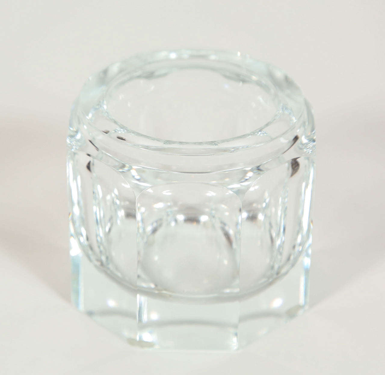 Crystal Jar With Silver Lid At 1stdibs