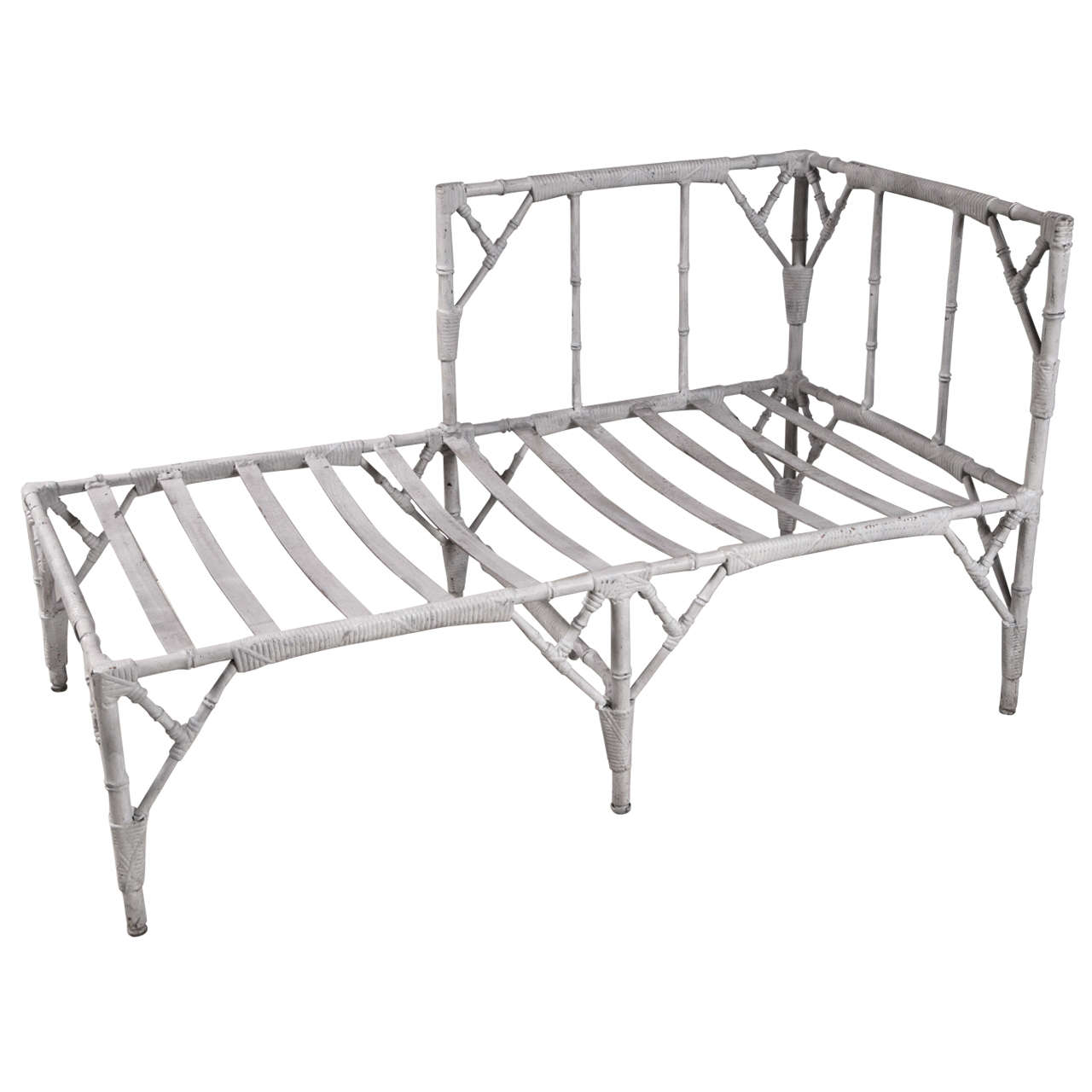 S Cast Aluminum Chaise Lounge At 1stdibs