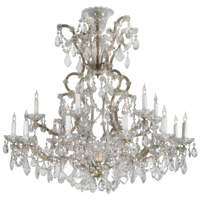 Marie Therese Crystal Chandelier From The Plaza Hotel Nyc For