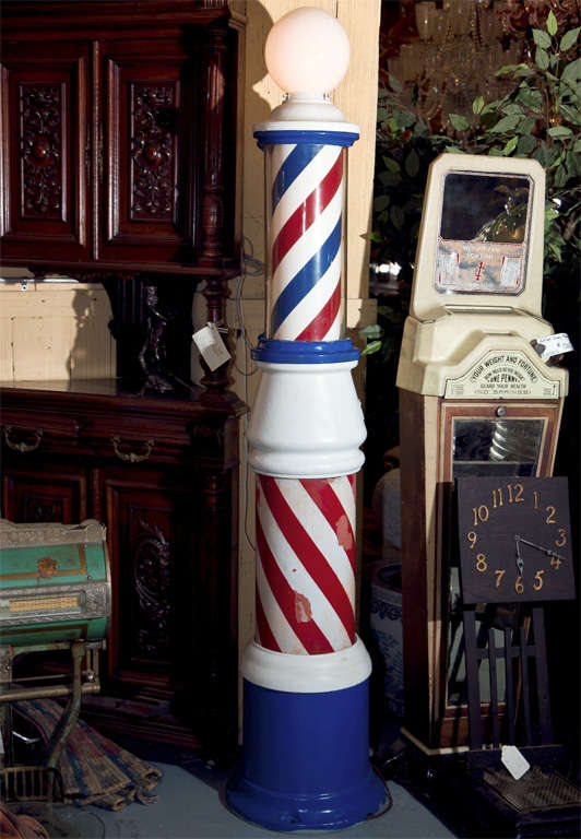 Antique Standing Barber Pole At 1stdibs