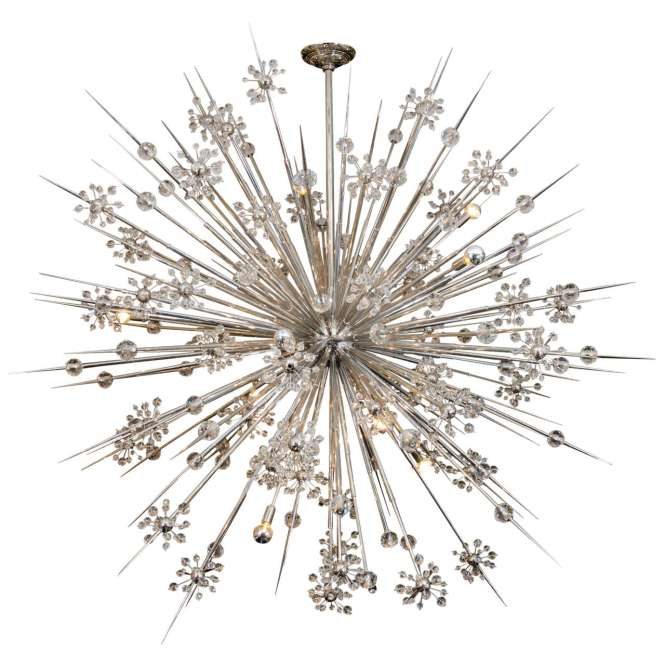 Huge Custom Crystal Starburst Sputnik Chandelier For