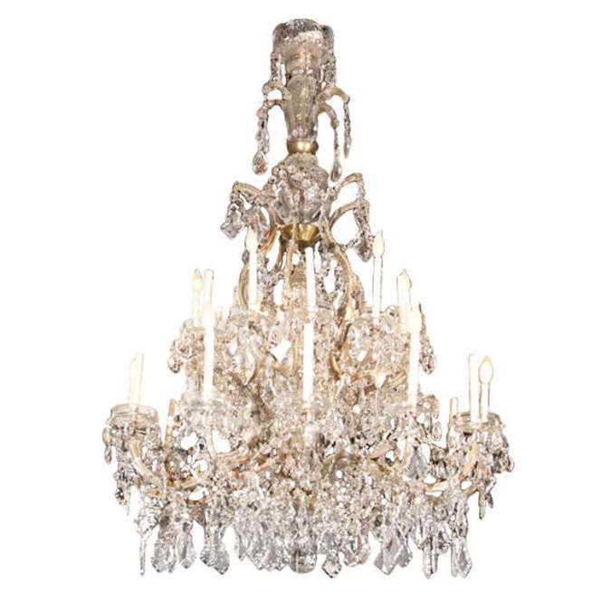 A Gorgeouonumental French Crystal Chandelier Circa 1920s As Seen In The Movie