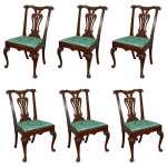 Set Of Six Irish 18th Century Georgian Dining Chairs For Sale At 1stdibs
