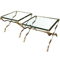 Bronze Faux Bamboo Table At 1stdibs