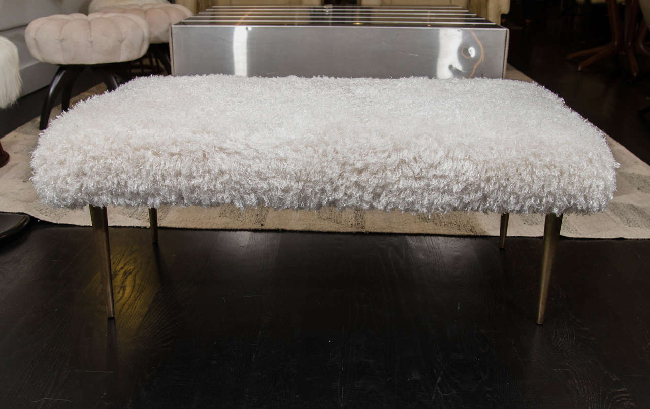 French Faux Fur Bench For Sale At 1stdibs
