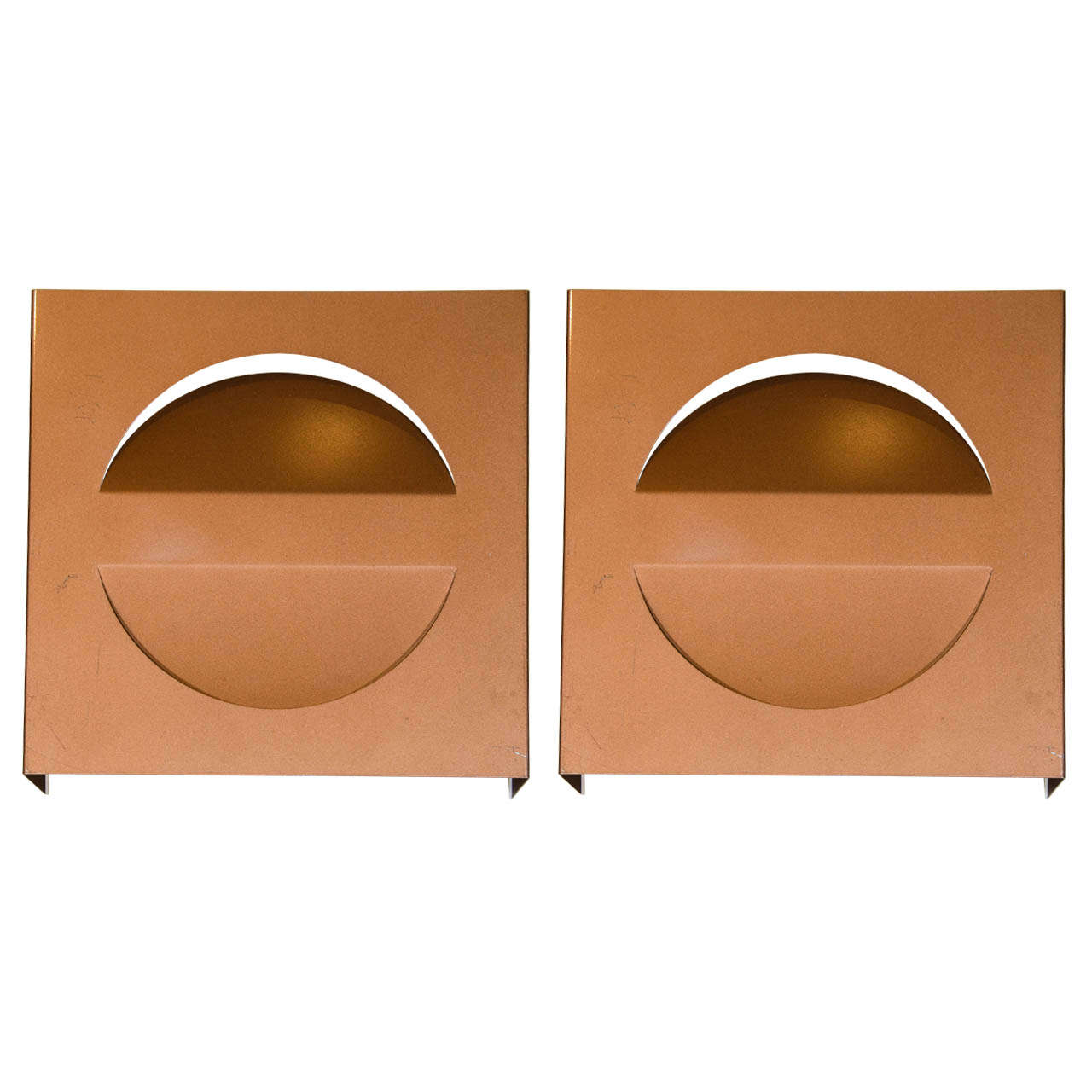 Pair of Ultra-Modern Lacquered Metal Sconces Designed by ... on Ultra Modern Wall Sconces id=64697