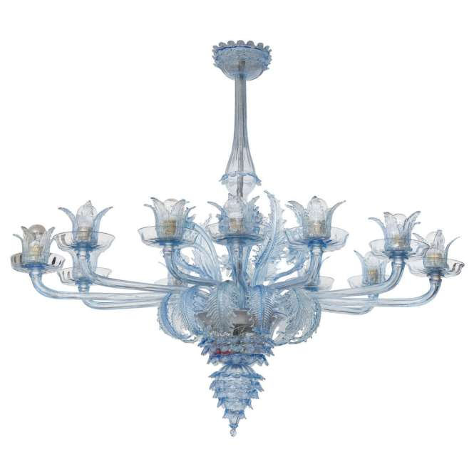 Venetian Chandelier By Barovier E Toso For