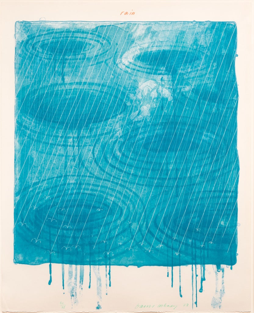 David Hockney Rain From The Weather Series Print At