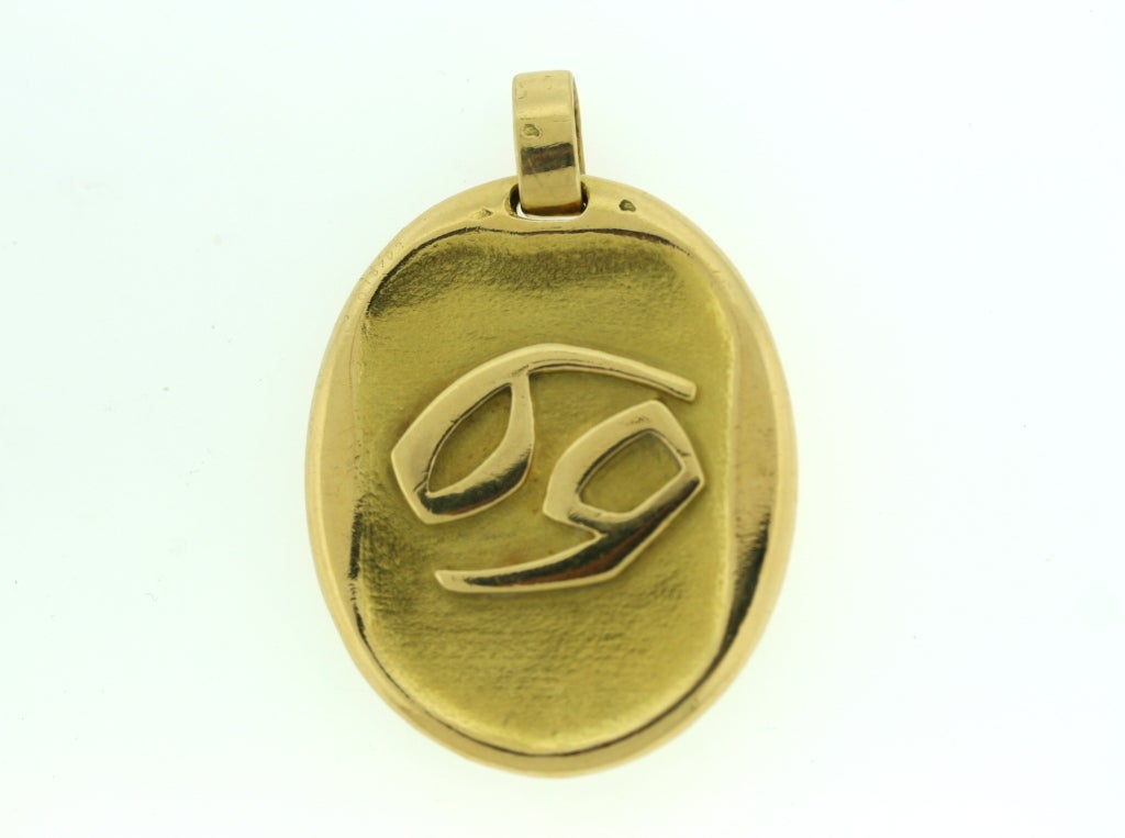 CARTIER Paris Jumbo Size Cancer Zodiac Pendant At 1stdibs