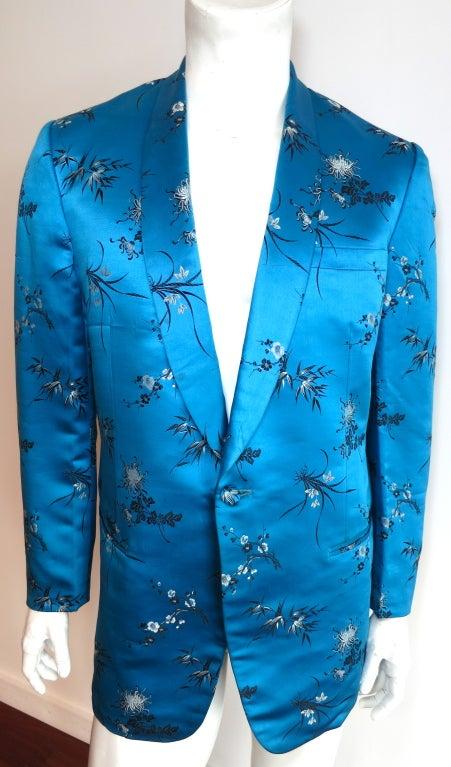 Vintage MODESTO 1970 Hand Tailored Chinese Silk Smoking