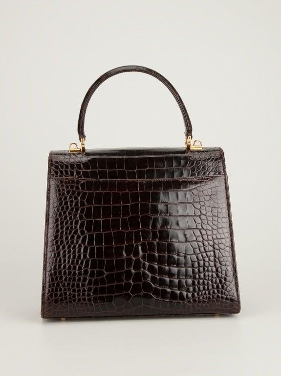 Gucci Vintage Crocodile Handbag At 1stdibs