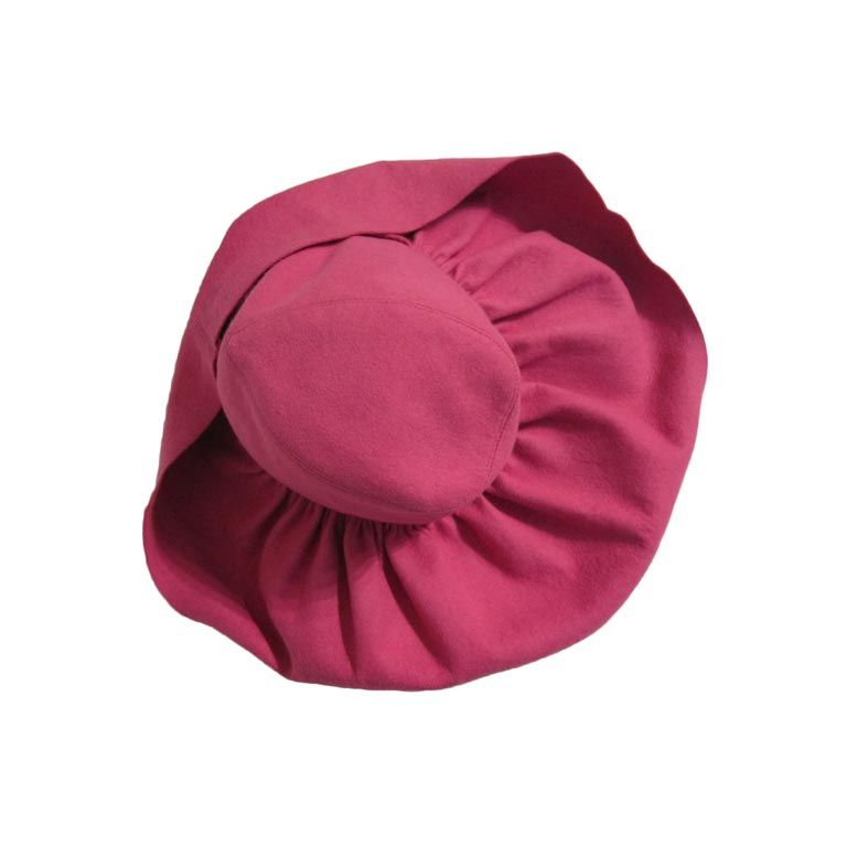 40s Pink Felt Gathered Brim Hat From Carson Pirie And