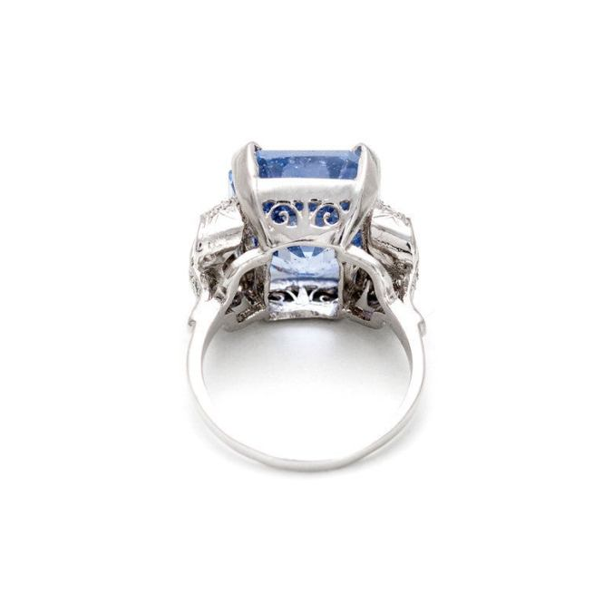 Natural Sapphire Diamond Bow Ring 1