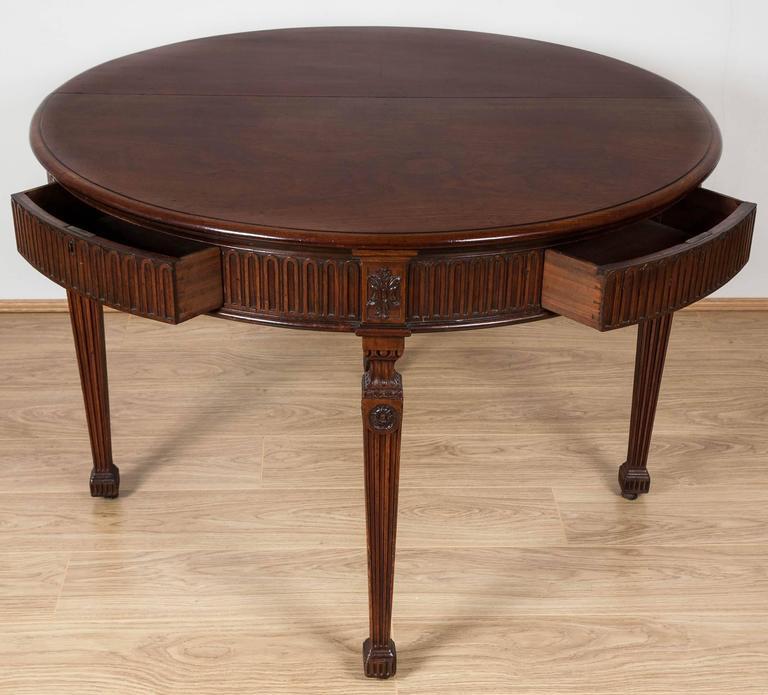 george iii period architect designed mahogany circular Circular Folding Dining Table id=11863