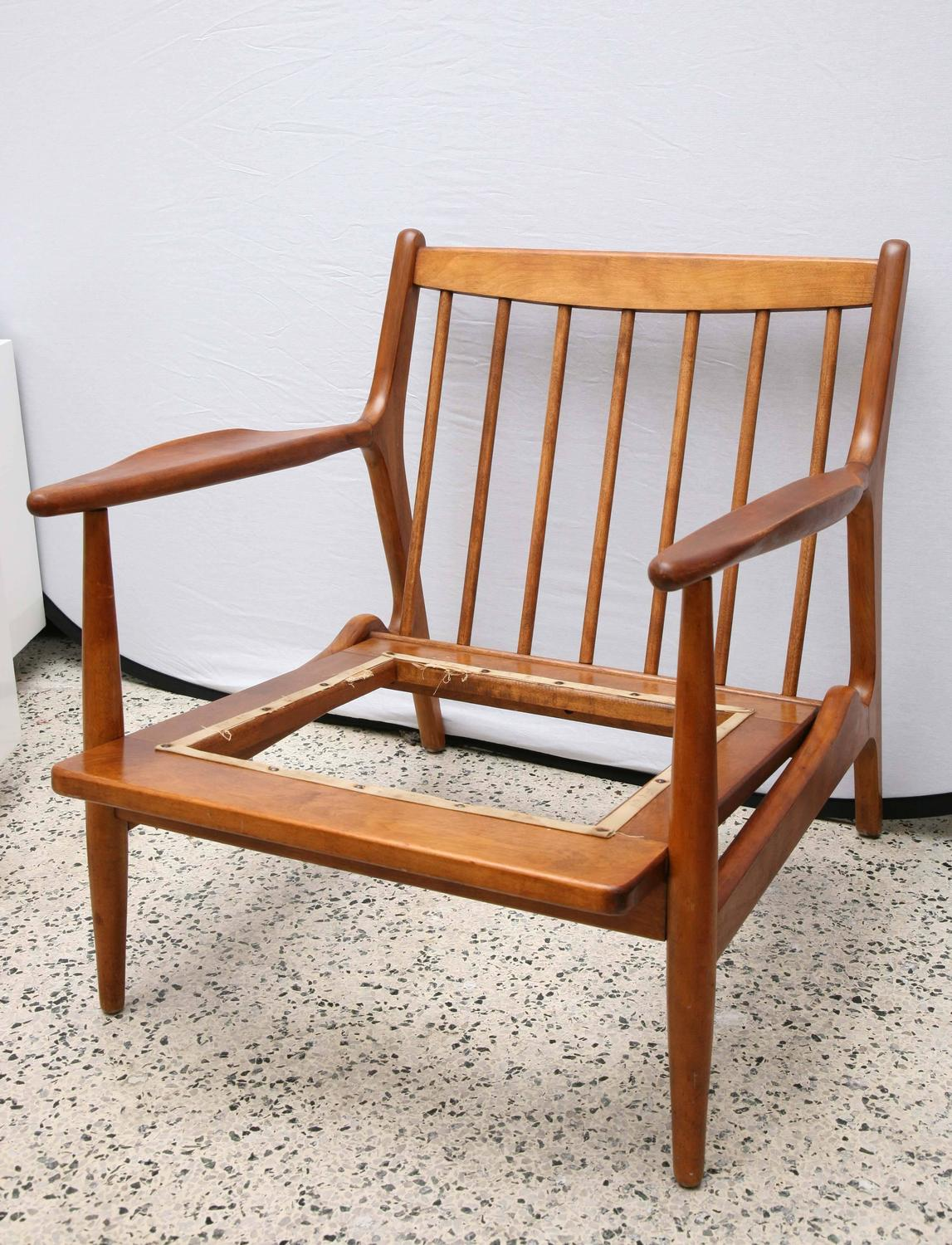Teak Chair By Conant Ball 1950s USA For Sale At 1stdibs