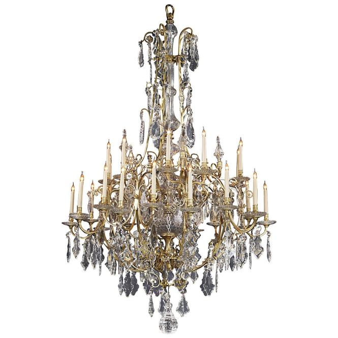 Large Louis Xv Style Thirty Light Cage Chandelier For