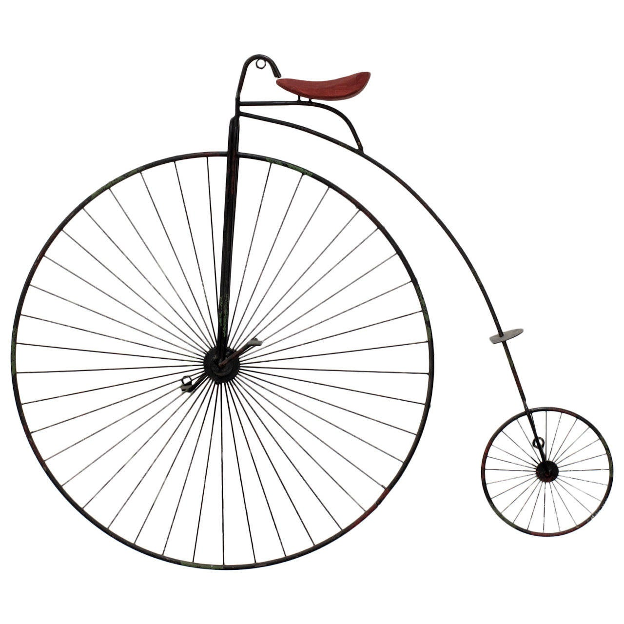High Wheel Bicycle Wall Sculpture By Curtis Jere At 1stdibs