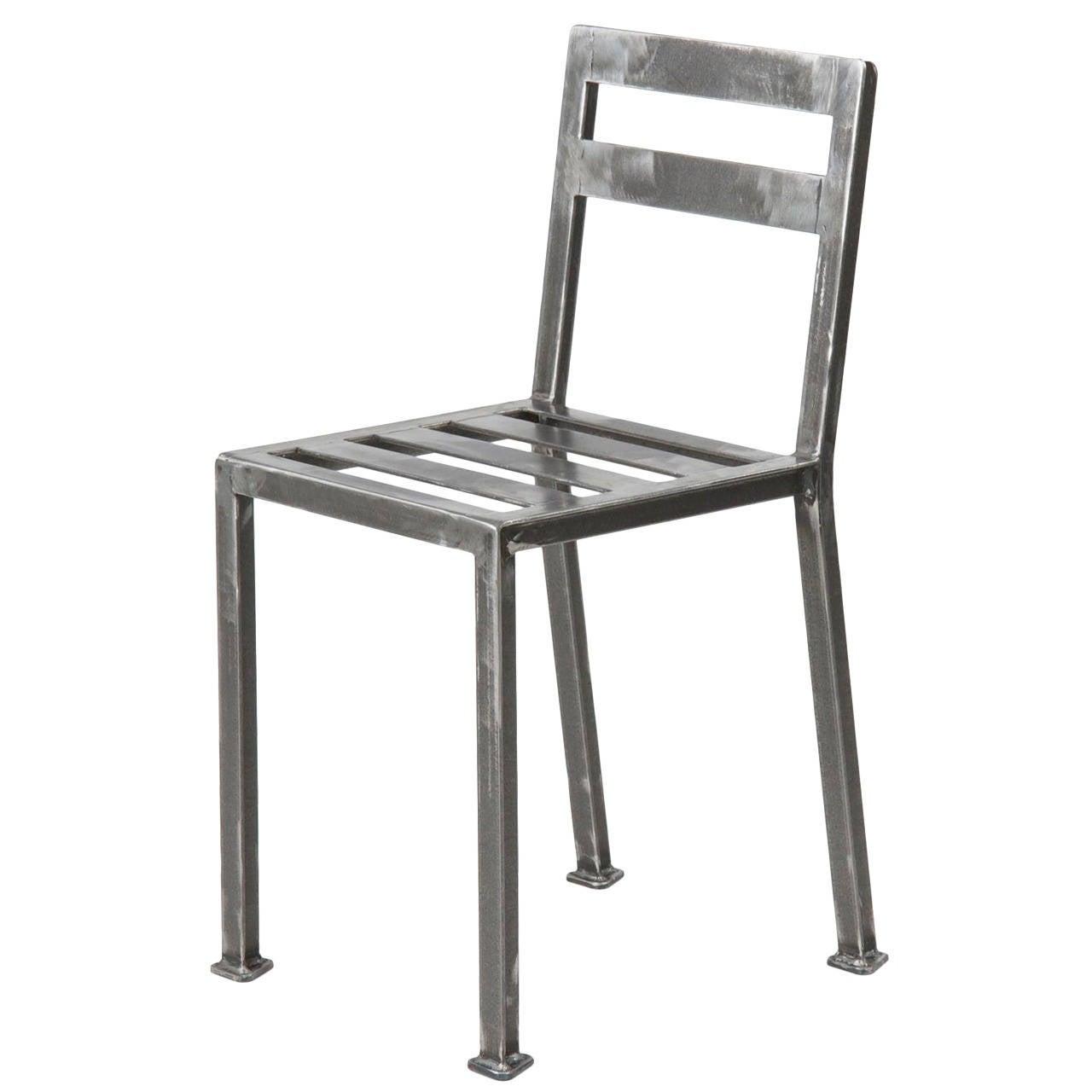Industrial Style Welded Steel Minimalist Dining Side Chair