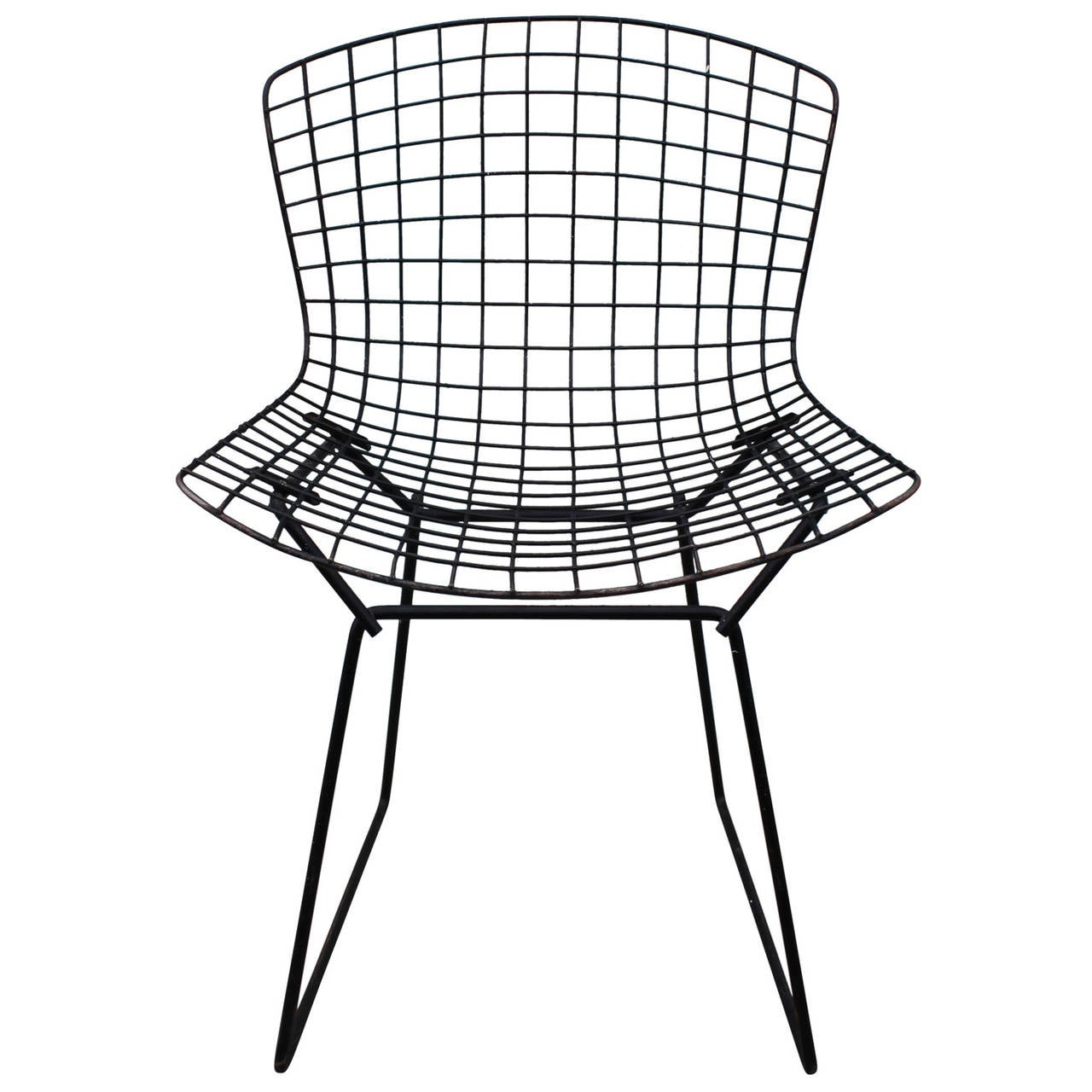 Set Of Six Bertoia Wire Dining Chairs At 1stdibs