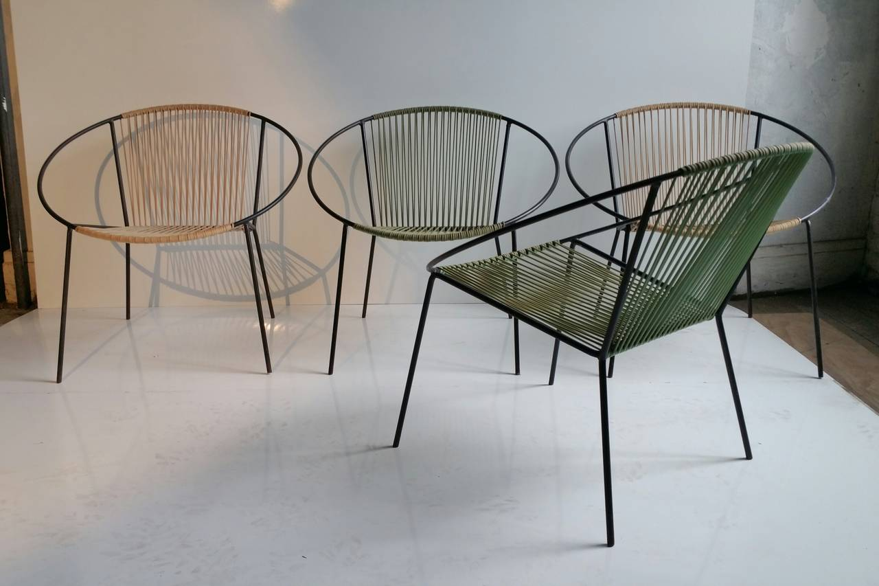 classic mid century modern outdoor hoop chairs by salterini