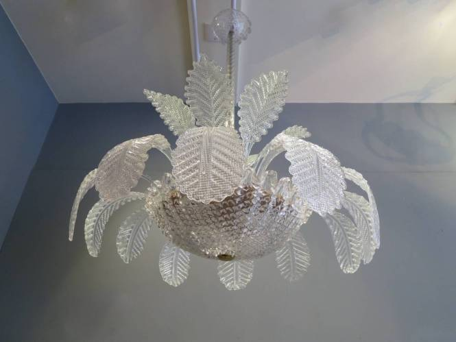 Italian Murano Fountain Chandelier Attributed To Barovier E Toso In Excellent Condition For London