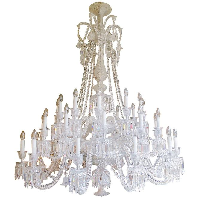 Large Thirty Six Arm Baccarat Zenith Chandelier Designed By Philippe Starck For