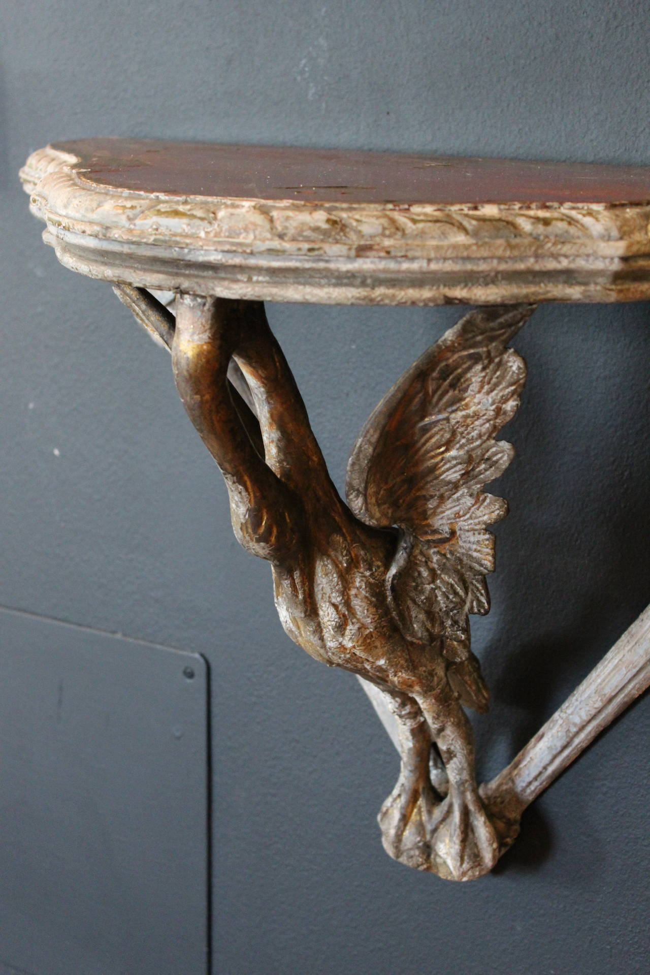 18th Century Wood Carved Swan Shelf At 1stdibs