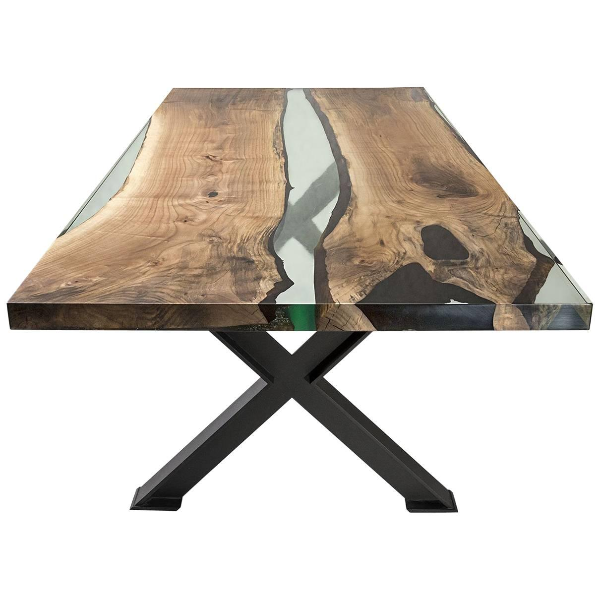 Hudson 250 Epoxy Resin Table With X Base For Sale At 1stdibs
