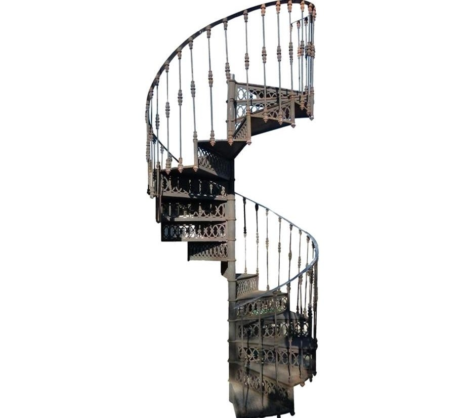 20Th Century Art Nouveau Style Cast Iron Spiral Staircase From | Cast Iron Spiral Staircase Cost | Balcony | Stair Parts | Stainless Steel | Low Cost | Shenzhen