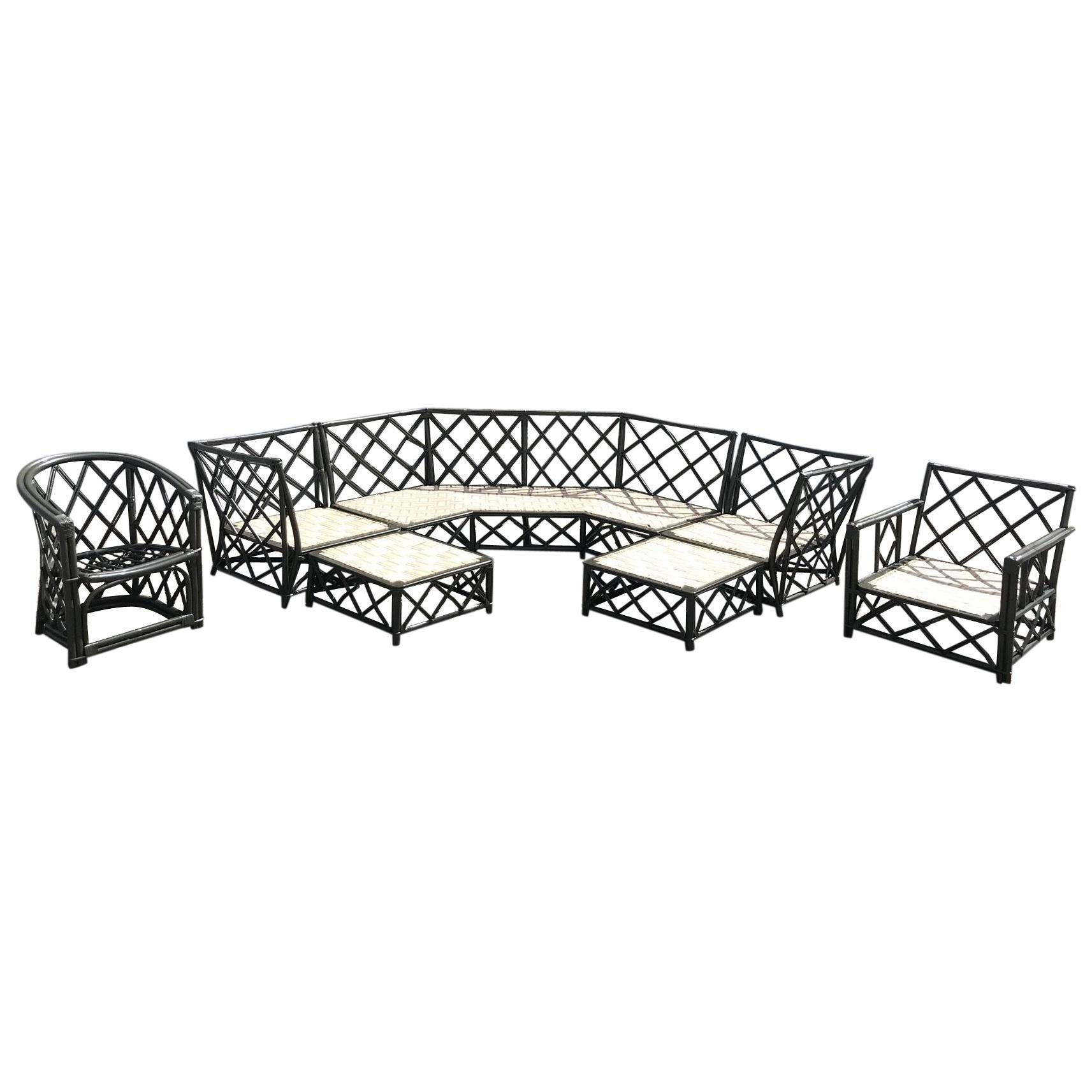 vintage ficks reed rattan patio furniture
