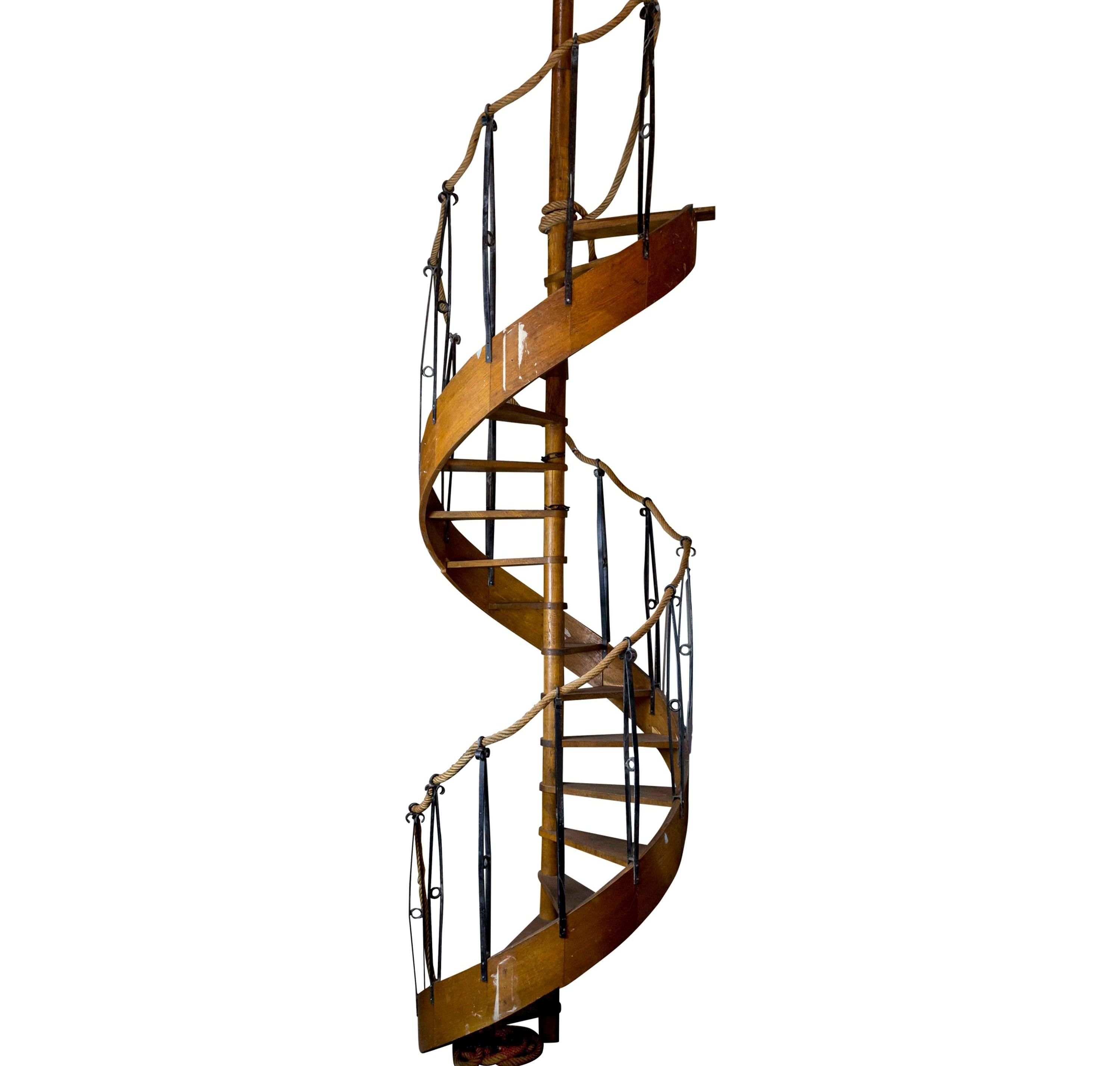 Antique And Vintage Stairs 87 For Sale At 1Stdibs | Reclaimed Wood Stairs For Sale | Stair Railing | Wooden | Staircase Makeover | Handrail | Van Gieson