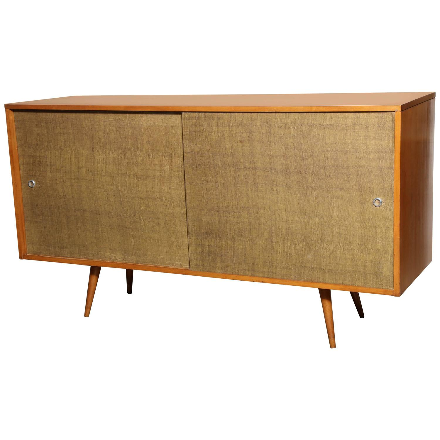 paul mccobb planner group for winchendon maple and grasscloth credenza 1950 s at 1stdibs
