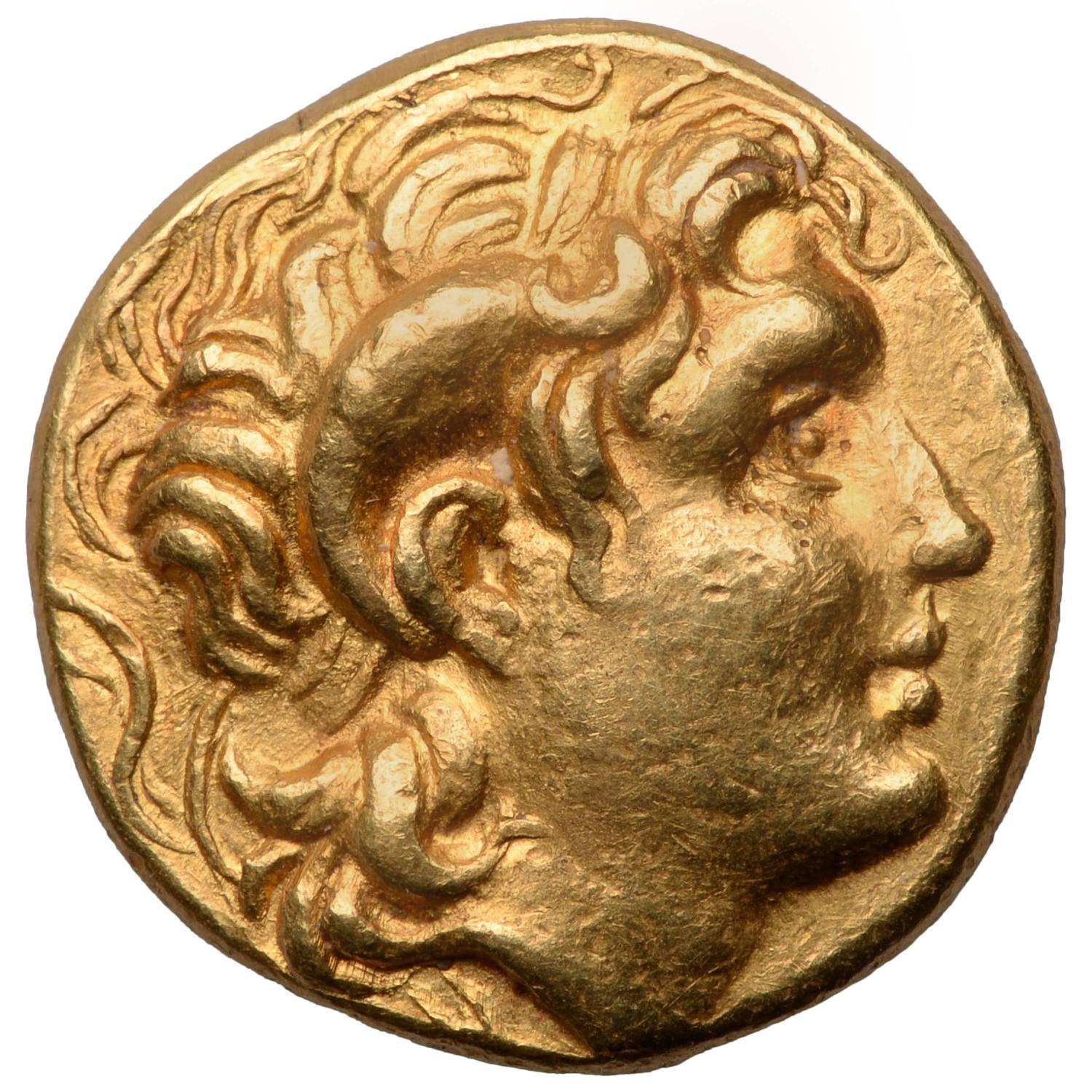 Ancient Greek Gold Coin Of Alexander The Great 281 Bc At