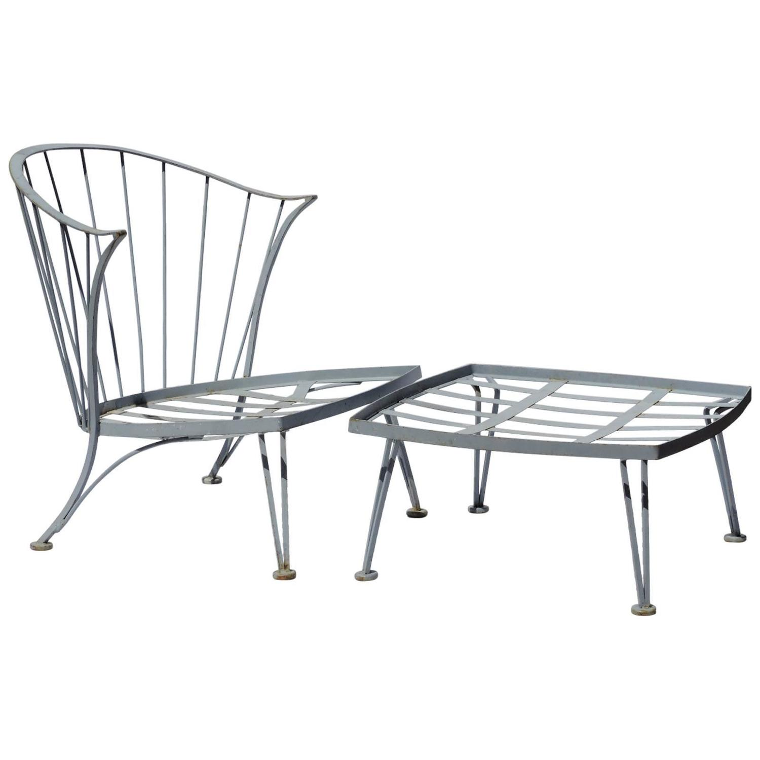 Russell Woodard Pinecrest Lounge Chair And Ottoman At 1stdibs