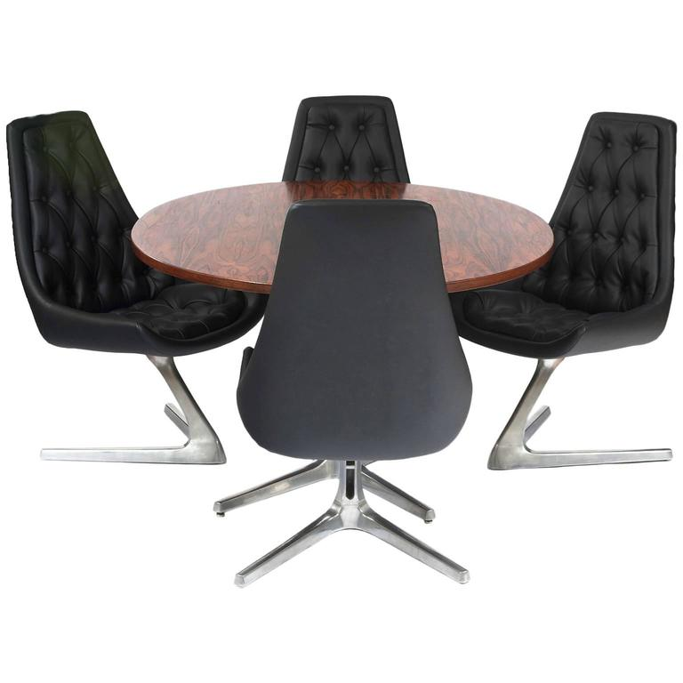 Chromcraft Sculpta Dining Table And Chairs At 1stdibs
