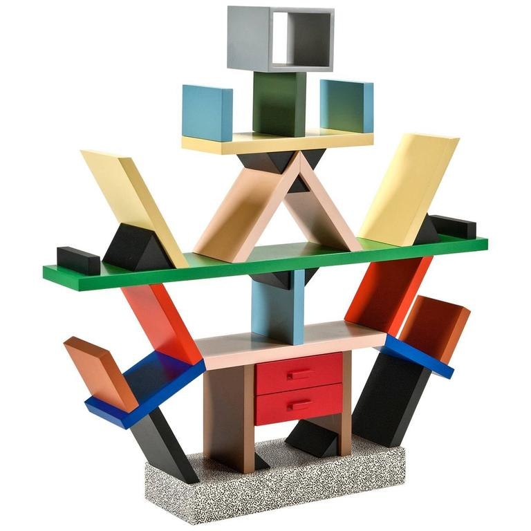 Carlton Bookcase 14 Scale Miniature By Ettore Sottsass