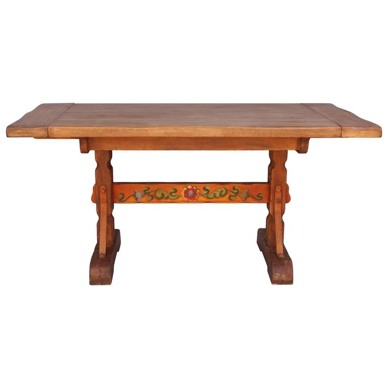 1930s hand painted monterey dining table at 1stdibs on hand painted dining room tables id=83258
