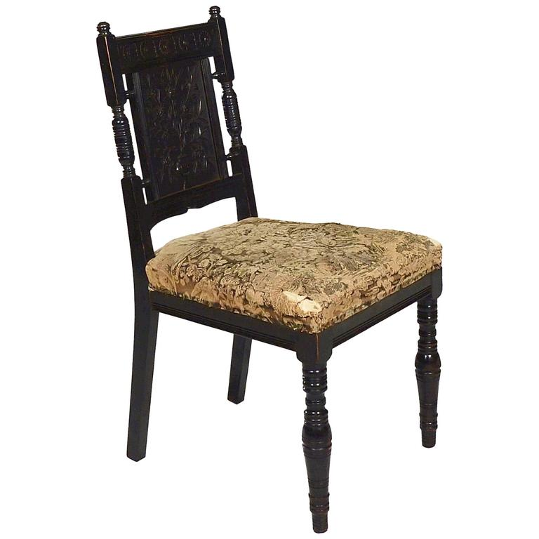 Aesthetic Ebonised Side Chair By Bruce Talbert At 1stdibs